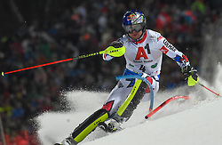 """29.01.2019, Planai, Schladming, AUT, FIS Weltcup Ski Alpin, Slalom, Herren, 1. Lauf, im Bild Alexis Pinturault (FRA) // Alexis Pinturault of France in action during his 1st run of men's Slalom """"the Nightrace"""" of FIS ski alpine world cup at the Planai in Schladming, Austria on 2019/01/29. EXPA Pictures © 2019, PhotoCredit: EXPA/ Erich Spiess"""