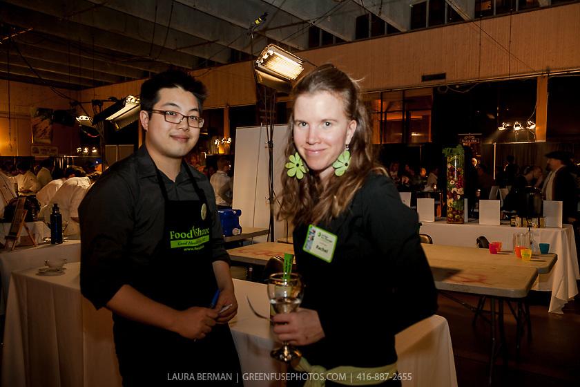 Rachel Van Sligtenhorst and volunteer at FoodShare Toronto's Recipe for Change, February 28,  2013