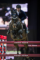 Emanuele Gaudiano on Wodan M competes during the Airbus Trophy at the Longines Masters of Hong Kong on 20 February 2016 at the Asia World Expo in Hong Kong, China. Photo by Juan Manuel Serrano / Power Sport Images