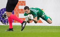 ST PETERSBURG, RUSSIA - OCTOBER 19, 2017. UEFA Europa League group stage: Zenit St Petersburg (Russia) 3 – 1 Rosenborg BK (Norway). Zenit St Petersburg's goalkeeper Andrey Lunev.