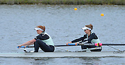 Reading. United Kingdom.  GBR W2-.  Holly GAME and Isobella VYVYAN, in the opening strokes of the morning time trial. 2014 Senior GB Rowing Trails, Redgrave and Pinsent Rowing Lake. Caversham.<br /> <br /> 10:51:12  Saturday  19/04/2014<br /> <br />  [Mandatory Credit: Peter Spurrier/Intersport<br /> Images]