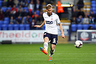 Bolton Wanderers' Tim Ream in action. Skybet football league championship match, Bolton Wanderers v Brentford at the Macron stadium in Bolton, Lancs on Saturday 25th October 2014.<br /> pic by Chris Stading, Andrew Orchard sports photography.