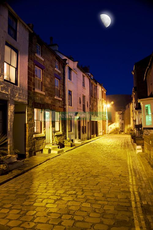 July 21, 2019 - City Street At Night, Staithes, Yorkshire, England (Credit Image: © John Short/Design Pics via ZUMA Wire)