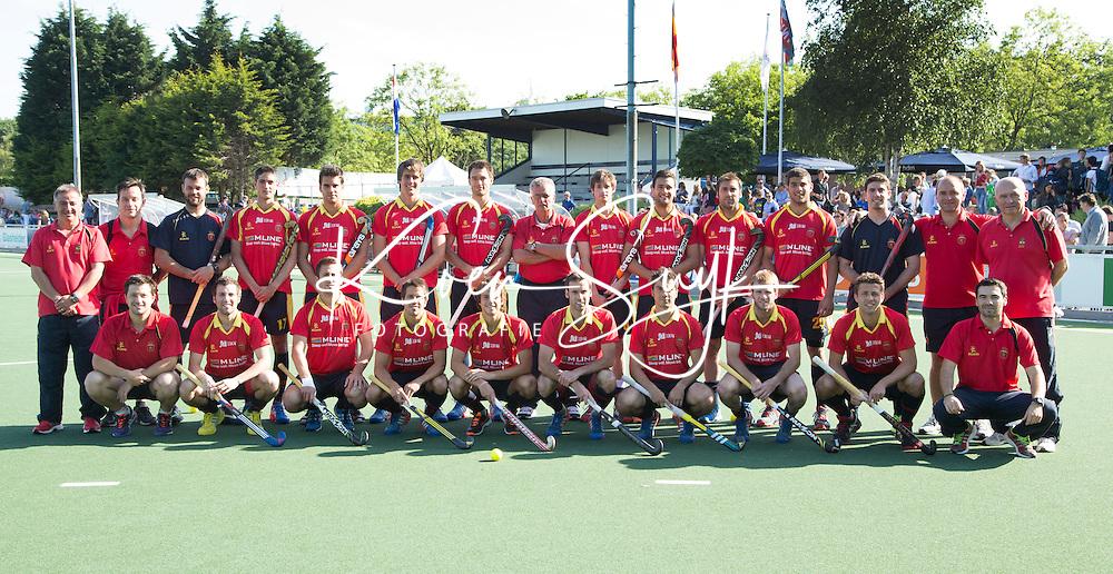 DEN HAAG - Het team van Spanje , voor de World Cup Hockey. COPYRIGHT KOEN SUYK