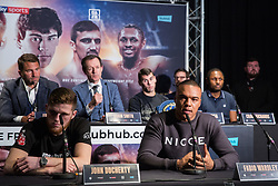 London, UK. 14th January, 2019. Ipswich heavyweight prospect Fabio Wardley speaks at the press conference for a Matchroom Boxing card at the 02 on 2nd February headed by a European Super-Welterweight Championship fight between Sergio Garcia and Ted Cheeseman.