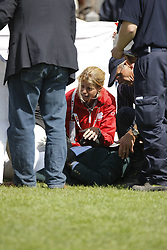 Atian Onasis after his fall at the showjumping in Aachen<br /> CHIO Aachen 2008<br /> Photo © Hippo Foto