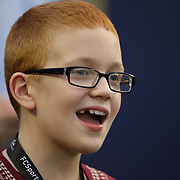Autistic FSU fan Bo Paske is seenduring an NCAA football game between the Ole Miss Rebels and the Florida State Seminoles at Camping World Stadium on September 5, 2016 in Orlando, Florida. (Alex Menendez via AP)