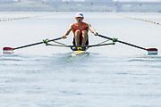 2005, World Rowing Championships, Nagaragawa International Regatta Course, Gifu, JAPAN: Monday  29.08.2005.NED LM1X Gerard van de Linden.  © Peter Spurrier/Intersport Images - email images@intersport-images.com