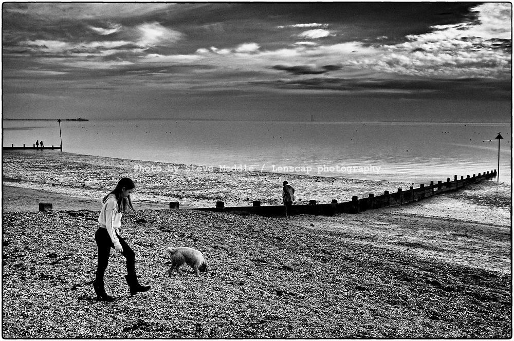 Chalkwell Beach, Southend-on-Sea, Essex, England - November 2020