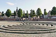 Nederland, Nijmegen, 6-10-2020  Straatbeelden van deze stad in Gelderland .Het Labyrint van Klaus van de Locht aan de waalkade.Foto: ANP/ Hollandse Hoogte/ Flip Franssen