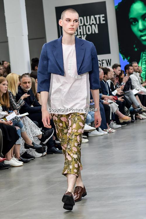 International Fashion Award Show - Fashion Show showcases at Graduate Fashion Week 2019 - Final Day, on 5 June 2019, Old Truman Brewery, London, UK.