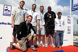 Medemblik - the Netherlands, May 31th 2009. Delta Lloyd Regatta in Medemblik (27/31 May 2009). Day 5, Medal races. Star podium,