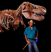 Paleontologist Jack Horner with T.Rex.  Jack was much of the inspiration for Michael Crighton's Jurassic Park novel.