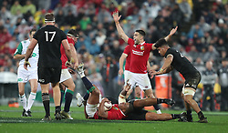 British and Irish Lions Kyle Sinckler wins a penalty during the second test of the 2017 British and Irish Lions tour at Westpac Stadium, Wellington.