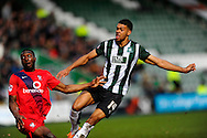 Plymouth Argyle's Jake Jervis watches after having a shot at goal during the Sky Bet League 2 match between Plymouth Argyle and York City at Home Park, Plymouth, England on 28 March 2016. Photo by Graham Hunt.