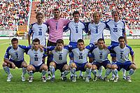 Fotball<br /> 08.09.2007<br /> EM-kvalifisering<br /> Ungarn v Bosnia<br /> Foto: Gepa/Digitalsport<br /> NORWAY ONLY<br /> <br /> Lagbilde Bosnia<br /> Bild zeigt hinten von links Mirko Hrgovic, Adnan Guso, Brjic Branimir, Zlatan Muslimovic und Elvir Rahimic. Vorne von links Dragan Blatnjak, Zvjezdan Misimovic, Ivan Radeljic, Vedad Ibisevic, Darko Maletic und Dzemal Berberovic (BIH)