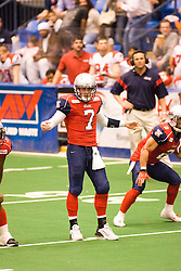 14 March 2009: Mitch Tanney directs his team to the set up he's called. The Sioux Falls Storm were hosted by the Bloomington Extreme in the US Cellular Coliseum in downtown Bloomington Illinois.