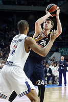 Real Madrid's Anthony Randolph (l) and Fenerbahce Istambul's Jan Vesely during Euroleague, Regular Season, Round 29 match. March 31, 2017. (ALTERPHOTOS/Acero)