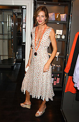 TRINNY WOODALL at a party to launch the Acqualuna jewellery exhibition at Allegra Hicks, 28 Cadogan Place, London on 22nd June 2005.<br />