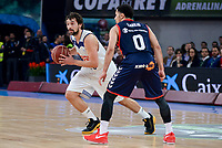 Baskonia's Shane Larkin and Real Madrid's Sergio Llull during Semi Finals match of 2017 King's Cup at Fernando Buesa Arena in Vitoria, Spain. February 18, 2017. (ALTERPHOTOS/BorjaB.Hojas)