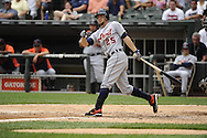 CHICAGO - JULY 27:  Ryan Raburn #25 of the Detroit Tigers bats against the Chicago White Sox on July 27, 2011 at U.S. Cellular Field in Chicago, Illinois.  The White Sox defeated the Tigers 2-1.  (Photo by Ron Vesely)  Subject: Ryan Raburn