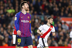 March 9, 2019 - Barcelona, Catalonia, Spain - FC Barcelona forward Lionel Messi (10) during the match FC Barcelona v Rayo Vallecano, for the round 27 of La Liga played at Camp Nou  on 9th March 2019 in Barcelona, Spain. (Credit Image: © Mikel Trigueros/NurPhoto via ZUMA Press)
