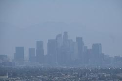 June 25, 2017 - Los Angeles, California, U.S - Smog shroud the sky of downtown Los Angeles on June 25, 2017. (Credit Image: © Ringo Chiu via ZUMA Wire)
