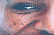 Dina Asher-Smith (Great Britain) signature on a cardboard cutout of herself after the Women's 200m, during the Muller Grand Prix at the Alexander Stadium, Birmingham, United Kingdom on 18 August 2019.