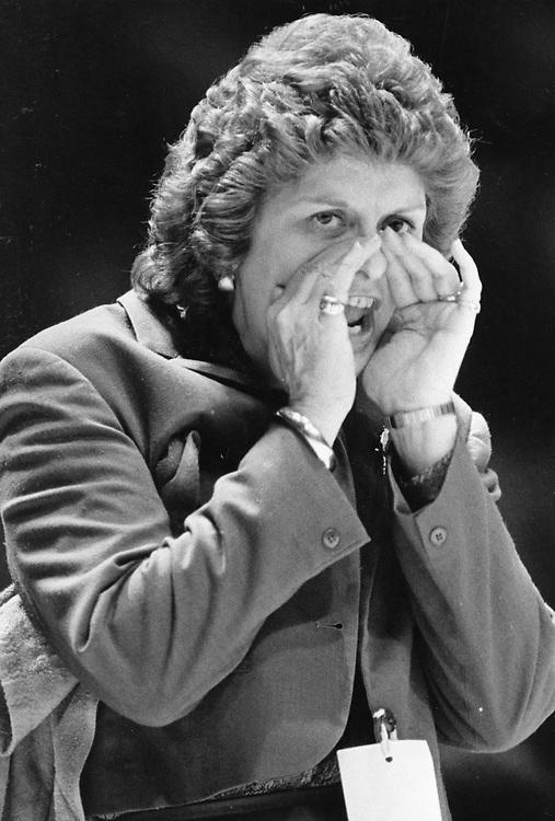 ©1986  University of Texas at Austin women's basketball coach Jody Conradt.