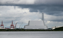 A general view of Poolbeg incinerator in Dublin after eleven workers were taken to hospital following an uncontrolled discharge.