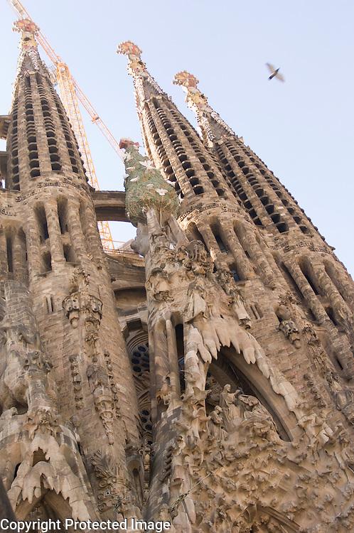 The Sagrada Familia by Antoni Gaudi in Barcelona
