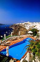 Swimming pool, Atlantis Villas, Oia, island of Santorini, the Cyclades, Greece
