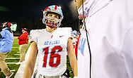AC Flora Falcons quarterback Ethans Beamish (16) celebrates in the closing minutes of the state championship game win over North Myrtle Beach Chiefs at Benedict College.
