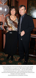 Radio presenter TONY BLACKBURN and his wife DEBBIE at a luncheon in London on 18th March 2003.	PIB 20