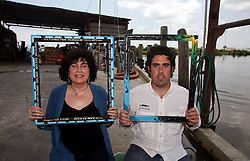 01 June 2010. New Orleans, Louisiana, USA.  <br /> Marylee Orr and her son Paul Orr shot on set in Chalmette for Spike Lee's latest movie,  'If God is Willing and da Creek Don't Rise.'<br /> Photo ©; Charlie Varley/varleypix.com
