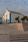 The Capela de Santa Marta on 24th May 2018 in Ericeira in Portugal. Ericeira is a civil parish and seaside resort/fishing community on the western coast of Portugal.