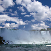 Canada, Ontario, Niagara Falls. The American Falls at Niagara Falls.