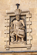 Niche statue of Asclepius, Aesculapius, Greek god of medicine, Parnella House, Devizes, Wiltshire, England, UK, c 1740