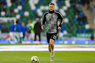 Germany midfielder Marco Reus (11) warms up during the UEFA European 2020 Qualifier match between Northern Ireland and Germany at National Football Stadium, Windsor Park, Northern Ireland on 9 September 2019.