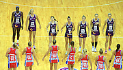 THE TEAM (QLD FIREBIRDS) PHOTO: SMP IMAGES / QLD FIREBIRDS MEDIA - 30th April 2016 - Action from the 2016 ANZ Championships Round 5 clash between the Queensland Firebirds v Sydney Swifts played at the Queensland Entertainment Centre, Brisbane], Australia.<br /> Photo: SMP IMAGES / FIREBIRD MEDIA