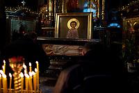 07.01.2011  Bialystok  Nabozenstwow Cerkwi Swietego Mikolaja pierwszego dnia Swiat Bozego Narodzenia  fot Michal Kosc / AGENCJA WSCHOD