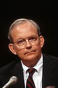National Security Advisor Anthony Lake testifies in the Senate Intelligence Committee hearing on his nomination as Director of the CIA March 11, 1997.