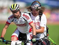10.09.2016, Lienz, AUT, Red Bull Dolomitenmann 2016, Moutainbike, im Bild Jiri Hudecek (CZE, Mountainbiker vom Team Budweiser Budvar), Tomas Lednik (CZE, Paragleiter vom Team Budweiser Budvar) // during the Moutainbike of the 2016 Red Bull Dolomitenmann at the Lienz, Austria on 2016/09/10. EXPA Pictures © 2016, PhotoCredit: EXPA/ Johann Groder