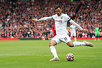 Football - 2021 / 2022 Premier League - Liverpool vs Burnley - Anfield - Saturday 21st August 2021<br /> <br /> <br /> <br /> <br /> Burnley's Dwight McNeil in action during todays match