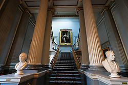 Interior view of staircase of the Signet Library on Parliament Square , Edinburgh Old Town, Scotland, UK.