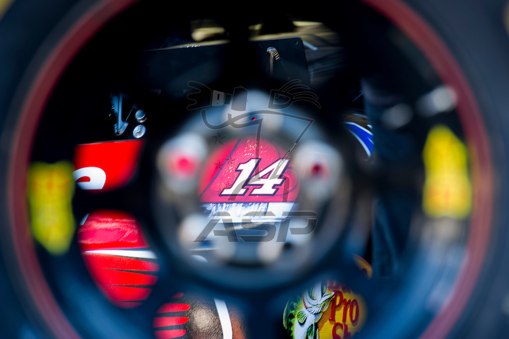 Kansas City, KS - OCT 20, 2012:  The NASCAR Sprint Cup Series teams take to the track during practice for the Hollywood Casino 400 at Kansas Speedway in Kansas City, KS.