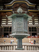 Bronze lantern in front of the Todaiji Temple in Nara, Japan