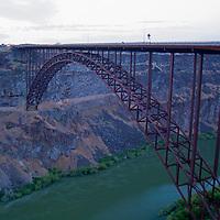 USA, Idaho, Twin Falls. Perrine Bridge spans the Snake River.