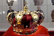 Perspreview 50 jaar Koninklijk Paleis Amsterdam.<br /> <br /> Op de foto: De kroon