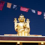 Likir Monastery / Klu-kkhyil Gompa with prayer flags, Ladakh, India